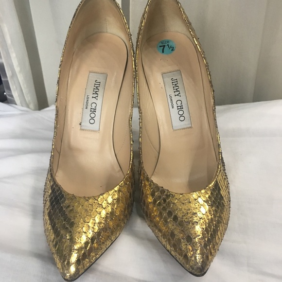 Jimmy Choo Shoes - *SOLD* Gold Jimmy Choo pumps